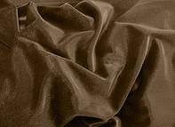 Бархатные коричневые однотонные шторы (портьеры)