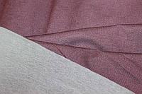 Ткань двухсторонний трикотаж серый + винный, слабый стрейч, формодаржащий, плотность средняя, осень, №281, фото 1
