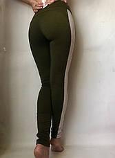 Леггинсы женские из двунитки № 55 Хаки, фото 3