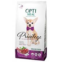 Optimeal Сухий корм для дорослих собак малих порід беззерновой-з високим вмістом ягнятини 1.5 кг