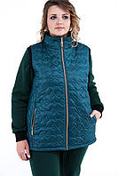 Женская теплая жилетка стеганная Стойка. Размер 50-56