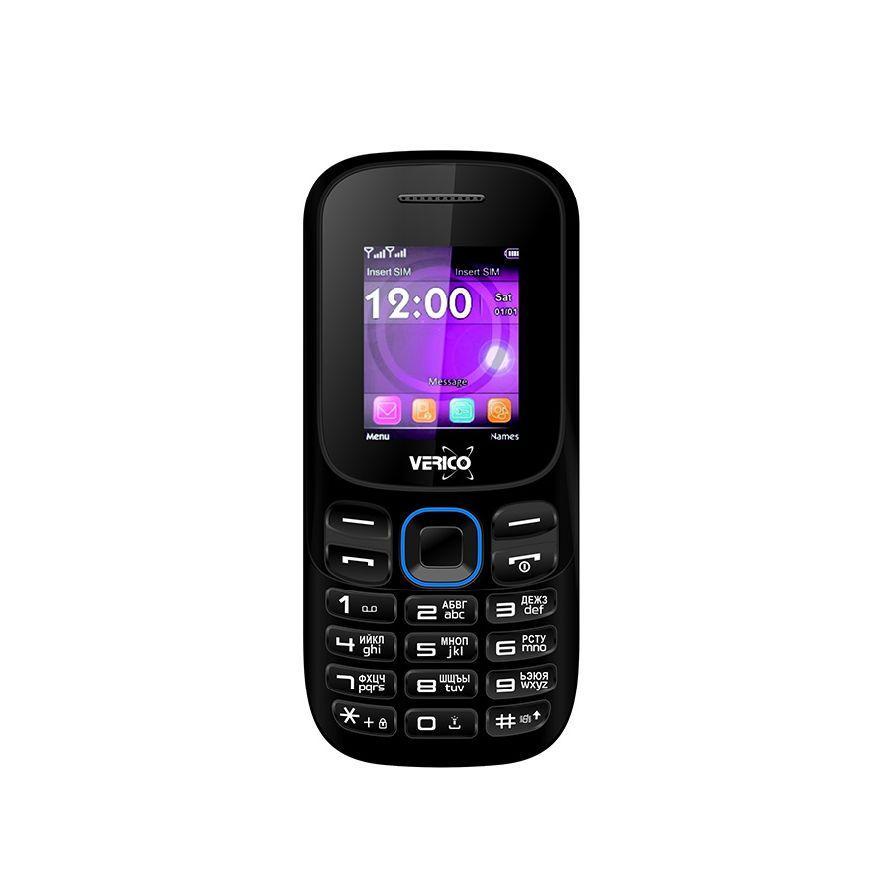 Мобильный кнопочный телефон на 2 сим карты Verico A182 черно-синий
