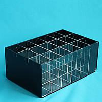 Черный органайзер для кистей и пилок 18 секций, фото 1