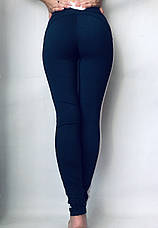 Леггинсы женские из двунитки № 55 Синий, фото 2