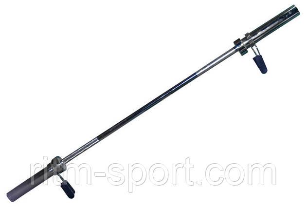 Гриф для штанги Олимпийский прямой  (l-1,8 м, рук.d-50 мм, гр.d-28 мм, вес 13 кг, замок пружин), фото 2