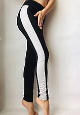 Леггинсы женские из двунитки № 55 Чёрный, фото 3