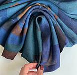 10669-12  кашне мужское, павлопосадский шарф (кашне) шерстяной (разреженная шерсть) с осыпкой, фото 5