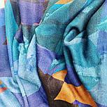 10669-12  кашне мужское, павлопосадский шарф (кашне) шерстяной (разреженная шерсть) с осыпкой, фото 4