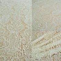 Кружевная ткань расшитая 10190A-12L ivory, м