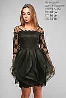 Женское платье вечернее до колена Lipar Черное
