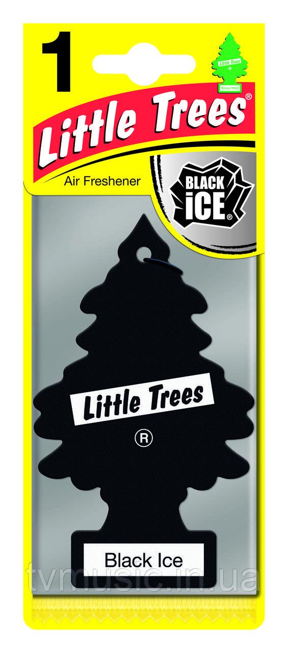 Ароматизатор в машину Little Trees Black Ice / Черный лед