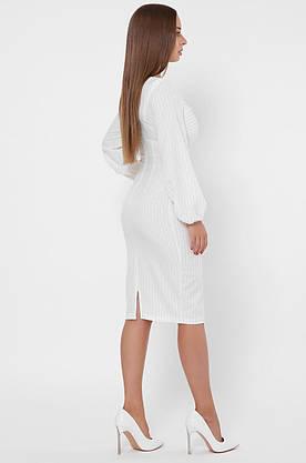 Облегающее белое платье-футляр в деловом стиле, фото 3