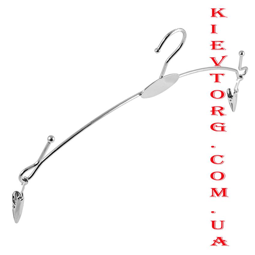 Вешалки плечики для нижнего белья с прищепками серебрянные