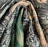 10788-10 кашне мужское, павлопосадский шарф (кашне) шерстяной (разреженная шерсть) с осыпкой, фото 3
