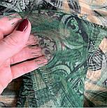 10788-10 кашне мужское, павлопосадский шарф (кашне) шерстяной (разреженная шерсть) с осыпкой, фото 6