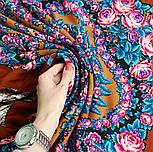 Ночь светла 1837-16, павлопосадский платок шерстяной  с шелковой бахромой, фото 9