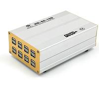 Зарядное устройство HD-60-16D, 16 USB портов, корпус алюминий, 12A 60W