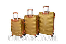 Чемодан Bonro Next набор 3 штуки золотой, фото 2