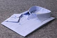 """Качественная голубая рубашка """"Каштан"""""""