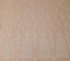 Мереживна тканина розшита 11095A-12L ivory, м