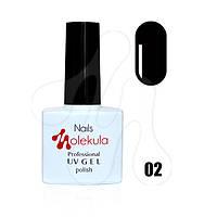 Гель-лак Molekula №002 (черный), 11 мл