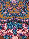 Ночь светла 1837-16, павлопосадский платок шерстяной  с шелковой бахромой, фото 4