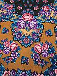 Ночь светла 1837-16, павлопосадский платок шерстяной  с шелковой бахромой, фото 5