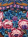Ночь светла 1837-16, павлопосадский платок шерстяной  с шелковой бахромой, фото 3