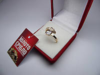 Золотое женское кольцо. Размер 18,5 Проба 375