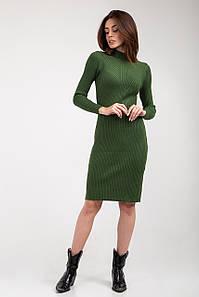 Платье трикотажное Янина зеленое