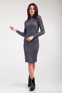 Платье трикотажное Янина серое