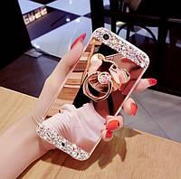 Чехол-накладка TPU Luxury Bear rose gold для Apple iPhone 7 / 8