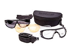 Очки баллистические Bolle Raider с комплектом линз, фиксатором на переносице и ремешком