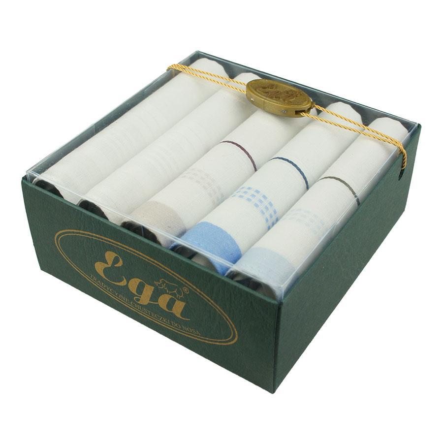 Набор носовых платков для мужчин в подарочной упаковке EGA 5 шт CH-598/5 С