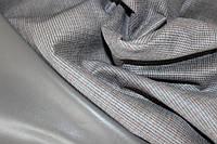 Ткань замш на дайвинге клетка очень мелкая, цвет серый, пог.м.  №3, фото 1
