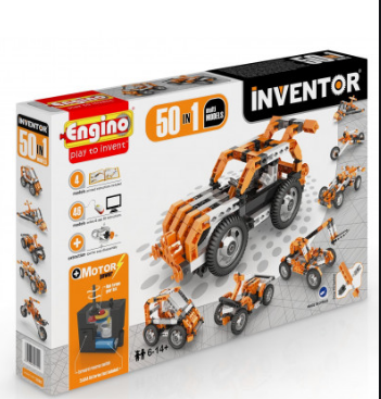 Конструктор Engino Inventor 50 в 1, з електродвигуном, для розвитку дітей