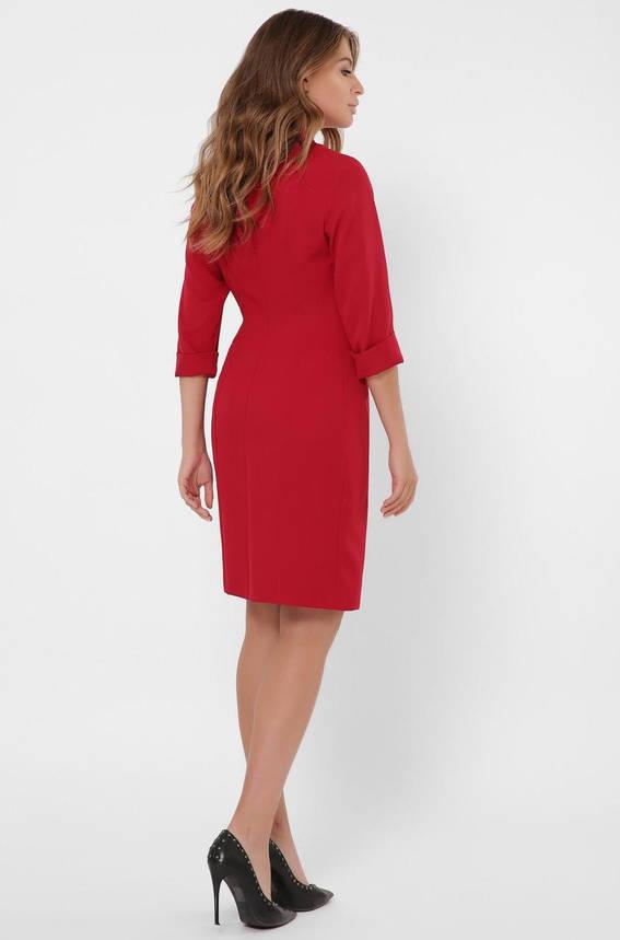 Красное платье-пиджак в деловом стиле, фото 2