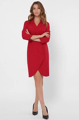 Красное платье-пиджак в деловом стиле, фото 3