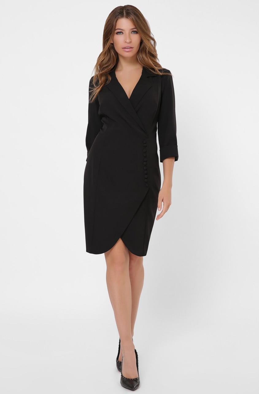Черное платье-пиджак в деловом стиле