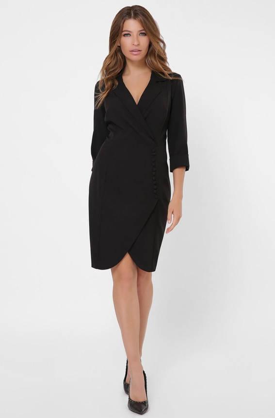 Черное платье-пиджак в деловом стиле, фото 2