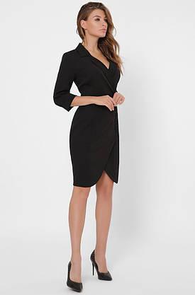 Черное платье-пиджак в деловом стиле, фото 3