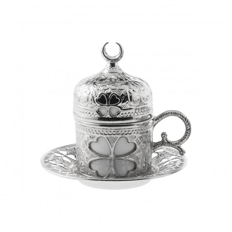 Чашка для кофе Sena Серебристый цветок