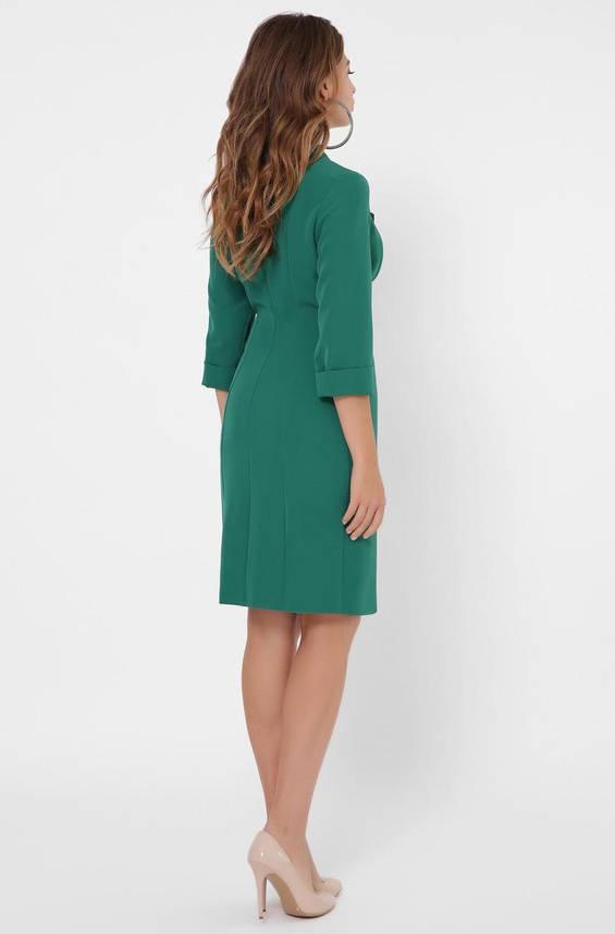 Зеленое платье-пиджак в деловом стиле, фото 2
