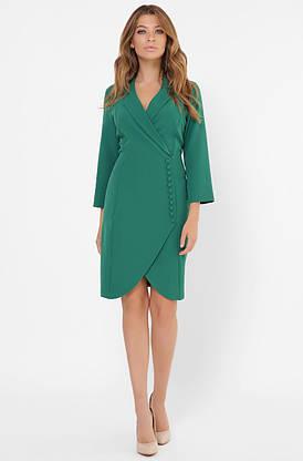Зеленое платье-пиджак в деловом стиле, фото 3