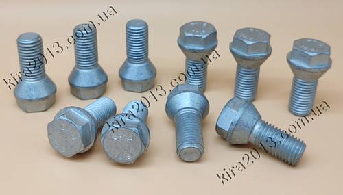 Колесные болты для адаптеров (переходников) М12х1,5 с короткой головкой h=6,5mm. Адаптерные болты М12*1,5