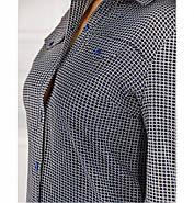 / Размер 52,54 / Женский стильный и минималистичный костюм-двойка 8-171-Синий, фото 3