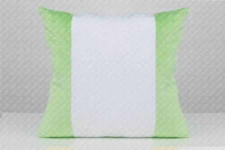 Плюшева Подушка для сублімації 35х35см з кольоровими вставками САЛАТОВА