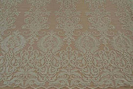 Мереживна тканина розшита 7839 ivory, м