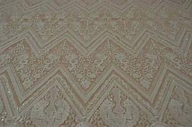 Мереживна тканина розшита 7851 ivory, м