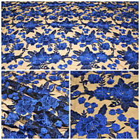 Мереживо 9809 (6086) синє, м
